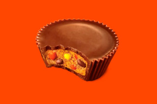Reese's Peanut Butter Cups Filled With Reese's Pieces