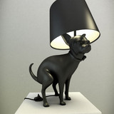 Good Boy: Pooping Dog Lamp