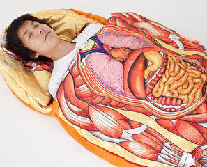 Wear Your Insides Outside with the Anatomical Model Sleeping Bag