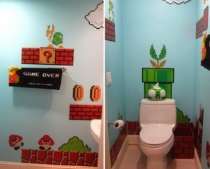 Don't Get Sucked Into A Warp Zone While Using The Super Mario Bros Bathroom
