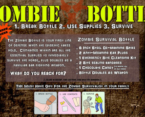 Sounds Iffy: Zombie Survival Kit In A Bottle