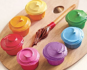 Painter's Palette Cupcakes