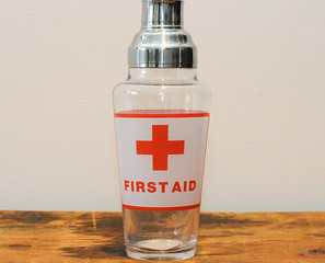 First Aid Cocktail Shaker