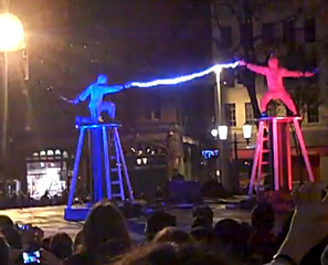 Epic Tesla Coil Fight