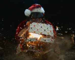 Watch Conan Blow Up A Gingerbread House In Slow Motion