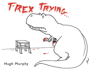 T-Rex Trying (And Succeeding) To Make A Book
