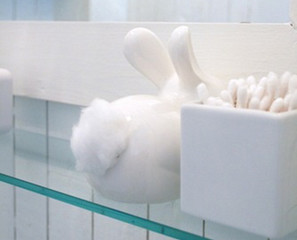 Daw!: Bunny Tail Cotton Ball Dispenser