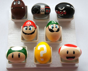 Super Mario Bros Painted Easter Eggs
