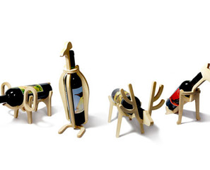 Animal-Shaped Wine Bottle Holders