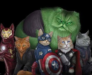 Cats As Comicbook Superheroes